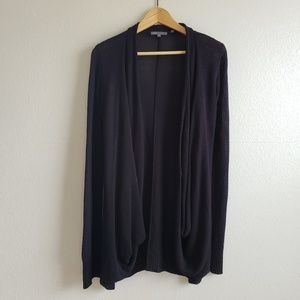 Vince Black Open Front Draping Cardigan